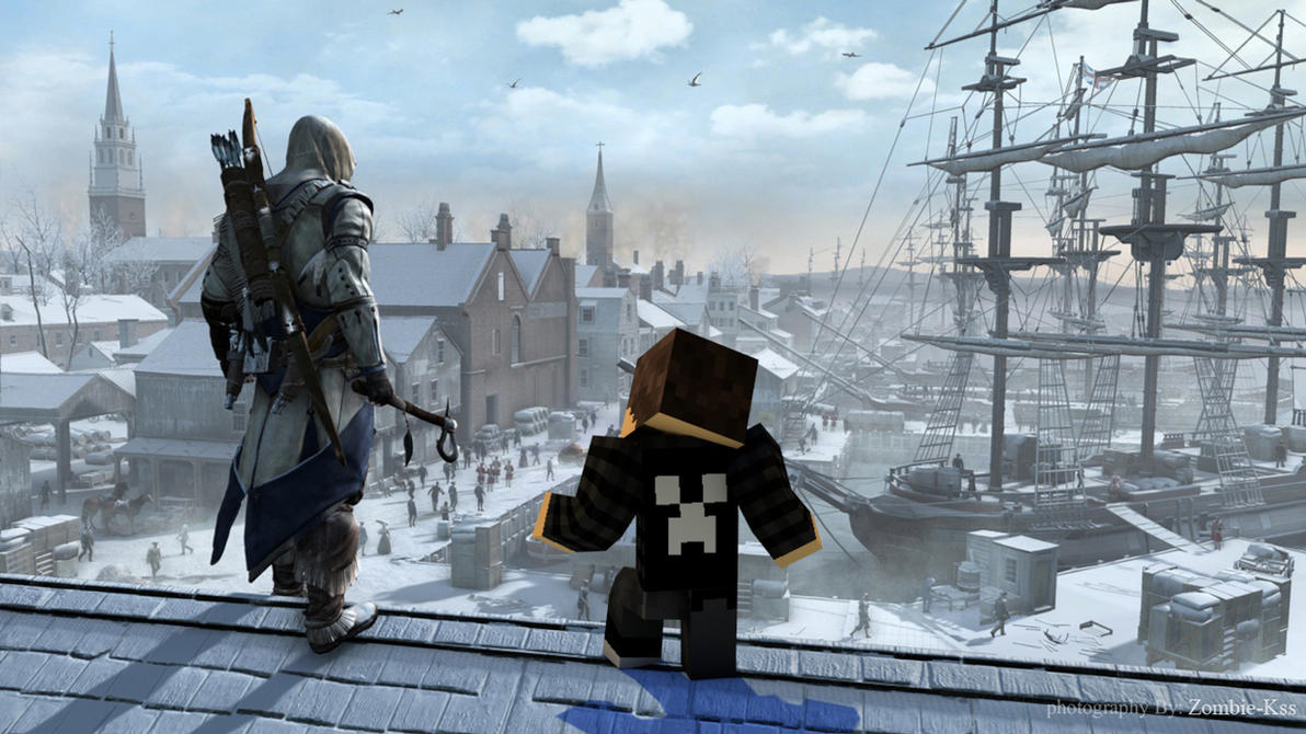 Beautiful Wallpaper Minecraft Assassin - assassin_s_creed___minecraft___wallpaper_by_zombie_kss-d8ylwuj  Image_142720.jpg