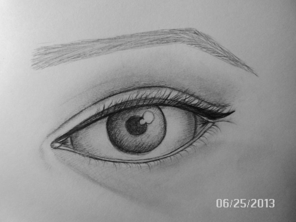 Eye Drawing By JazzieDuSoleil