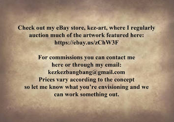 Sales and commission info by Kez-the-artist