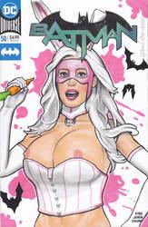 Batman White Rabbit Blank Variant Sketch Cover Art by Kez-the-artist
