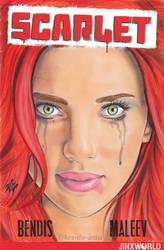 Scarlett Johansson Blank Variant Sketch Cover Art by Kez-the-artist