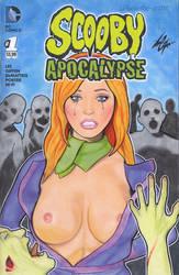 Scooby Apocalypse Daphne Zombie Cover Art by Kez-the-artist