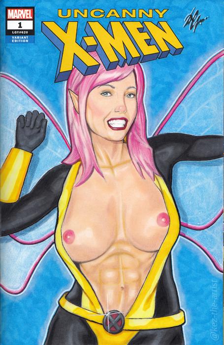 Sexy Pixie Uncanny X-Men Blank Sketch Cover Art by Kez-the-artist