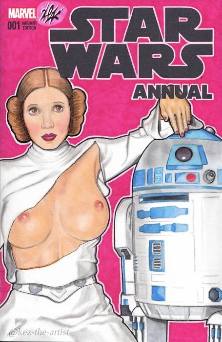 Star Wars Sexy Princess Leia Blank Variant Comic by Kez-the-artist