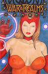 Scarlet Witch Sexy Pin-up Sketch Cover Art by Kez-the-artist