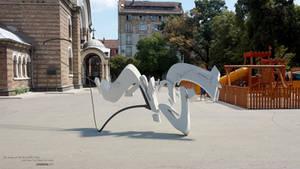 3D Graffiti in Sofia HD by unisonart