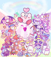 happy first anniversary, kirby star allies!!!!! by kcdoos