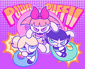 HERE THEY COME JUST IN TIME, THE POWERPUFF GIRLS!