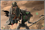 Necron lord and commissar