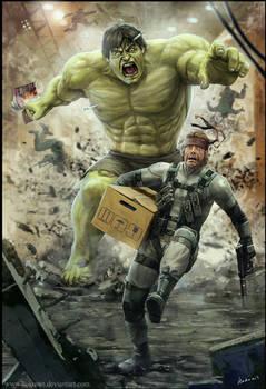 Solid Snake VS Hulk