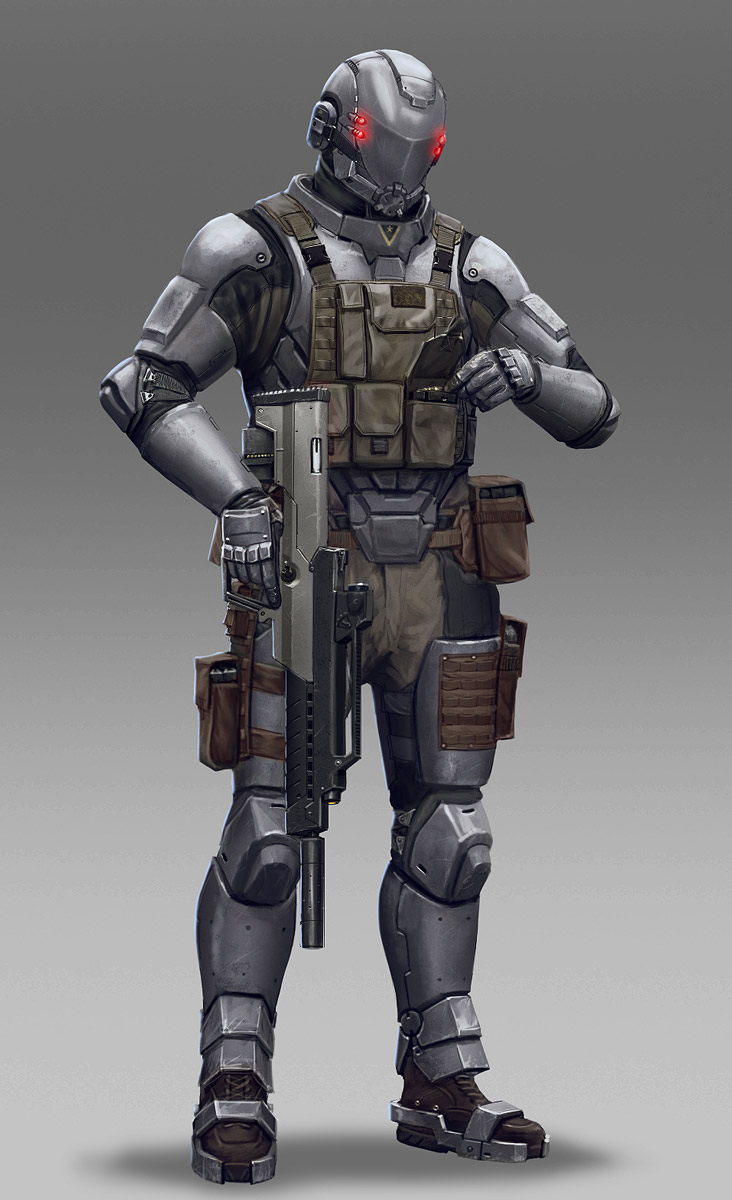 Soldier by Hokunin on DeviantArt Futuristic Robot Soldier