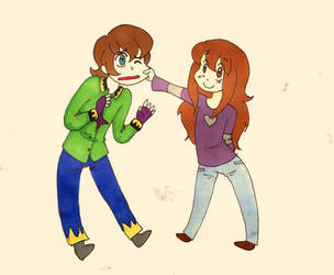 R: Zack and Sabrina by FinLin