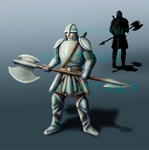 (CLOSED) Auction #1 Warrior With Axe by HelgErich