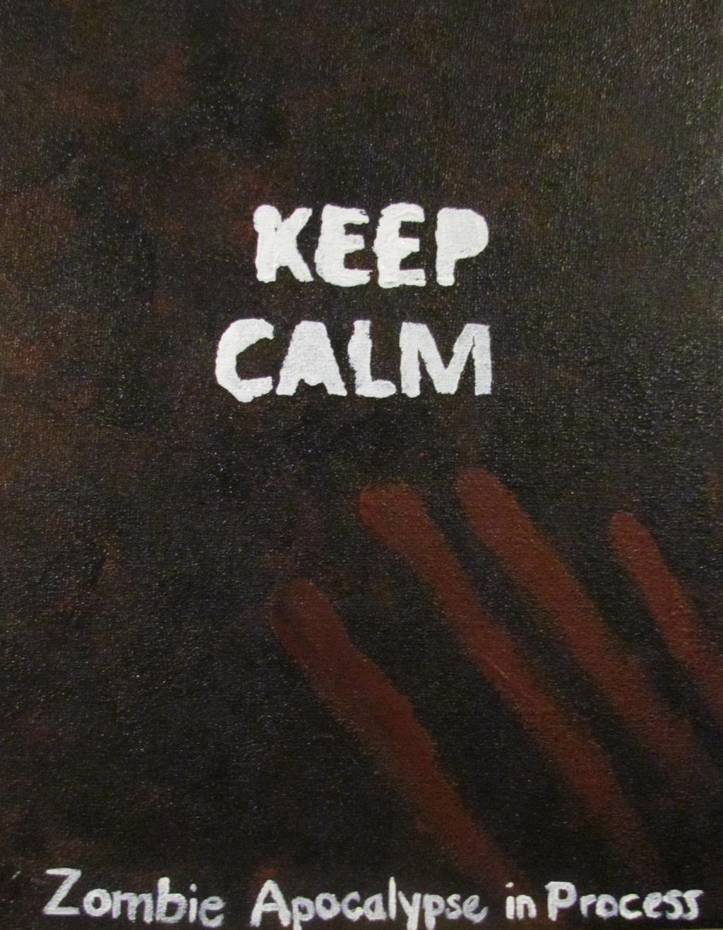 Keep Calm Zombies by tinyBIG93
