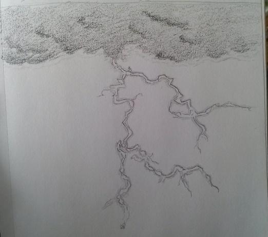 Lightning Drawing Pencil Lightning in Pencil