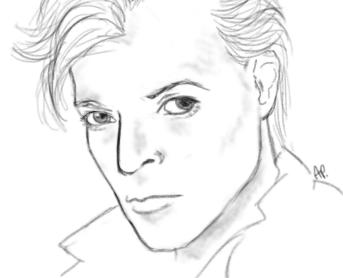 David Bowie portrait by Alisha-town
