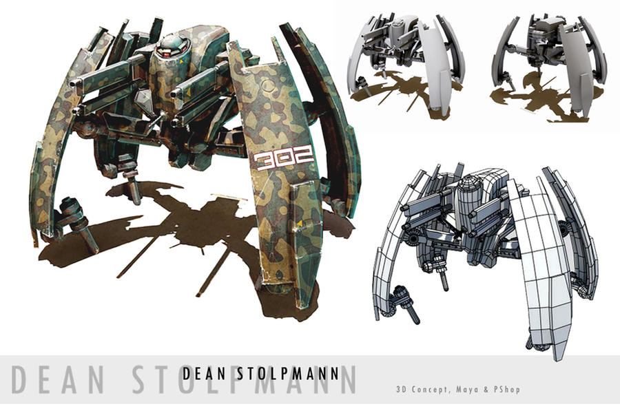 Walker Spider Tank Concept by Dstolpmann