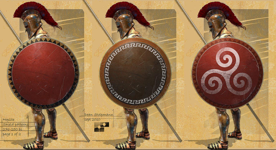 Hoplite Concept Shields by Dstolpmann