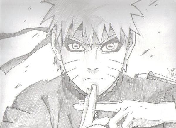 My draw of Naru... Naruto Kyuubi Sage Mode Drawing