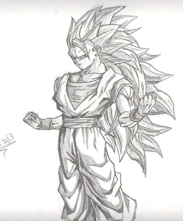 My draw of goku ssj3 by shino93