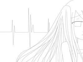Line Art - Hatsune Miku