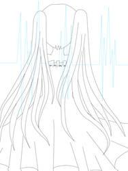 Line Art - Hatsune Miku 2
