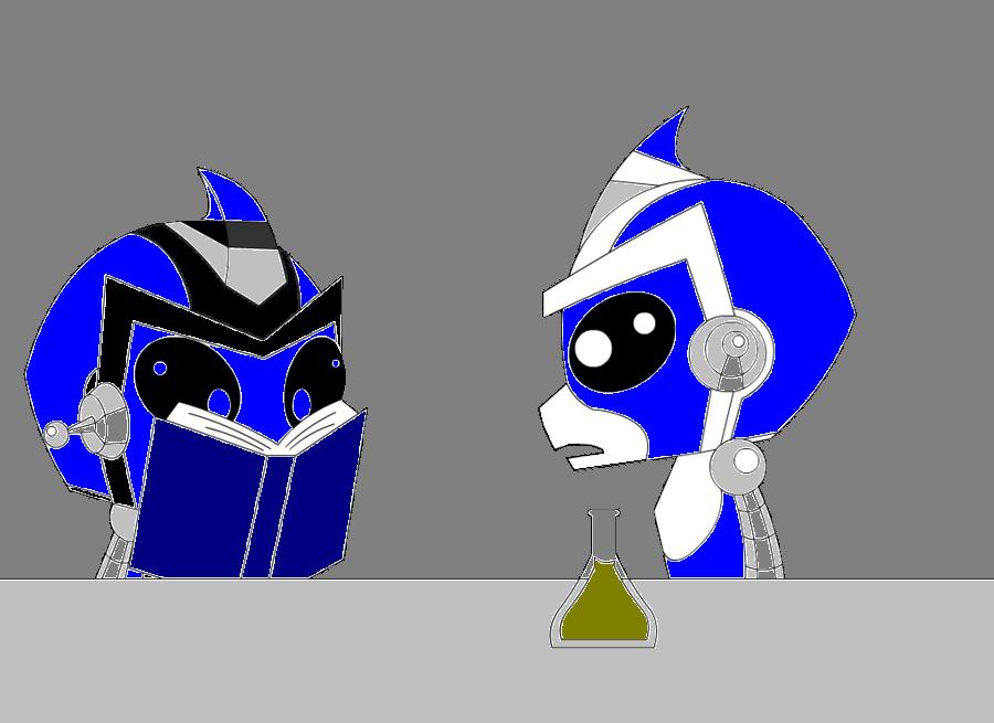 Hal helping Gibson by Razor-Antauri