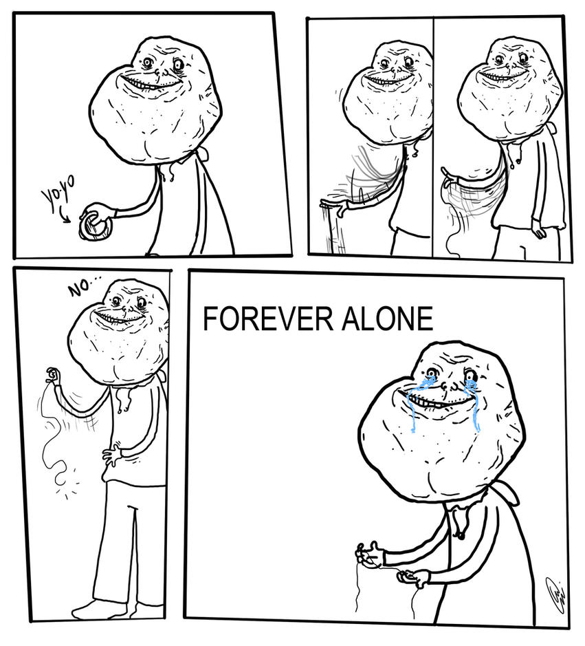 forever alone drawing by - photo #11