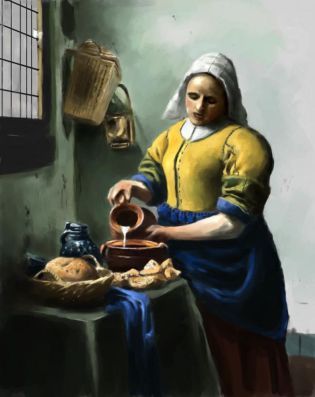 Delightful Vermeer Study:The Kitchen Maid By Adzerak ...