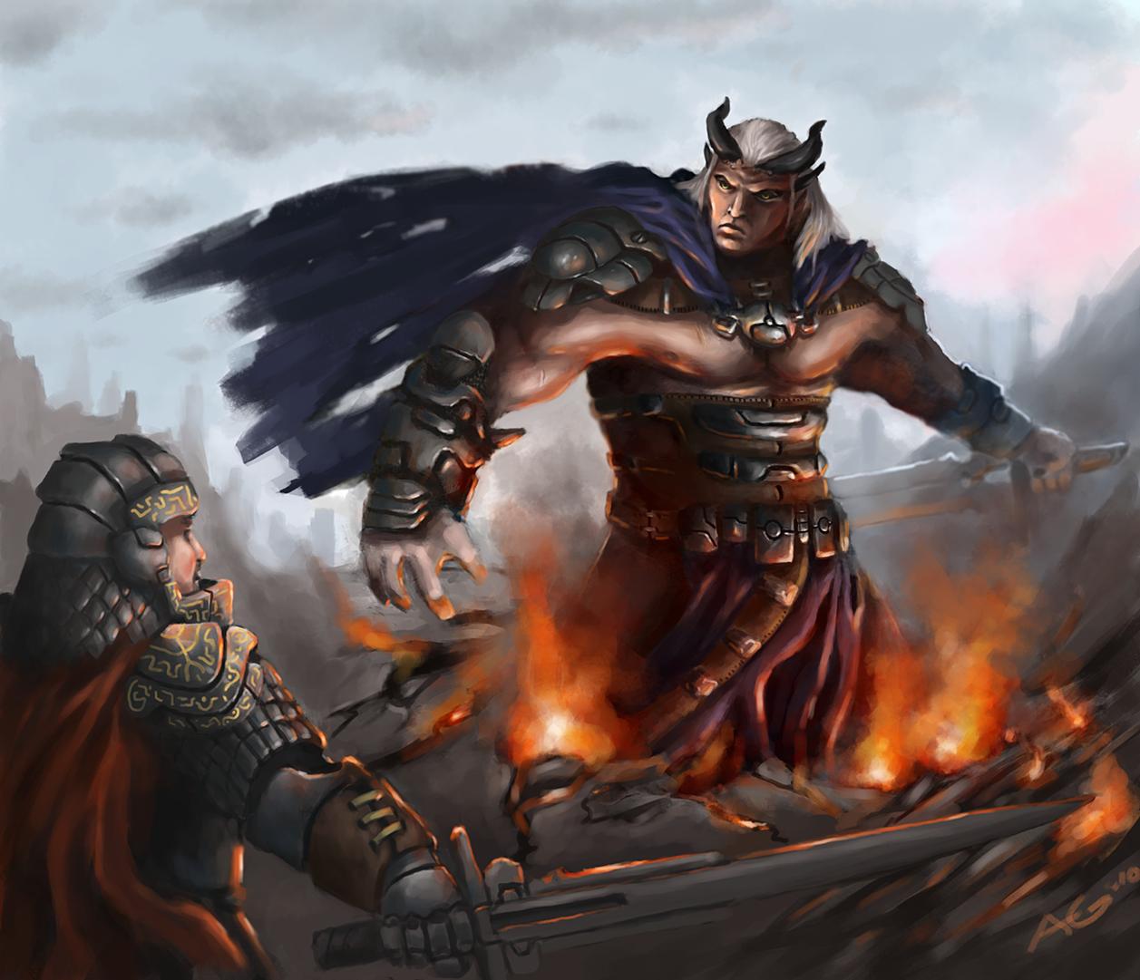 Dragon Age 2 - Qunari Titan by Adzerak