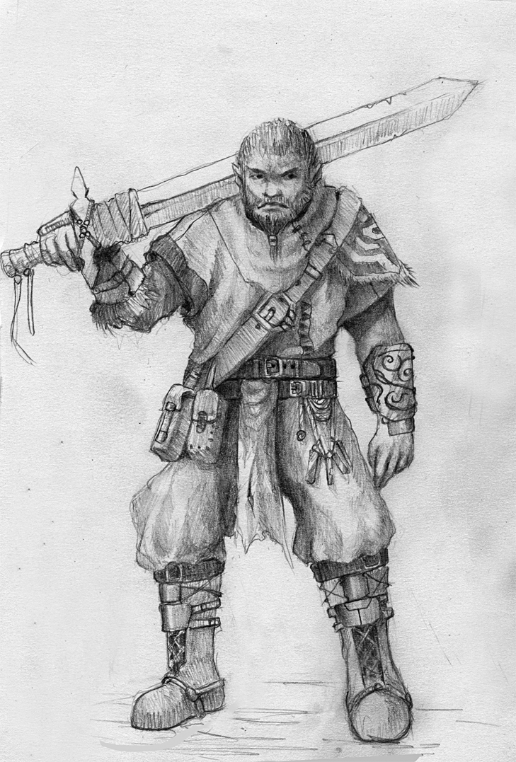 Gork the adventure orc by Adzerak