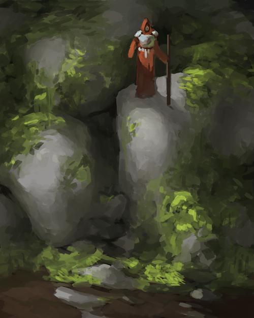 MossyStone_sketch by Adzerak