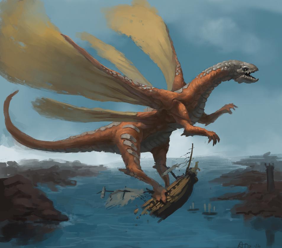 Winged beast by Adzerak