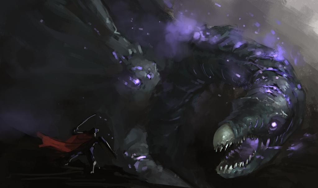 Wraith dragon by Adzerak
