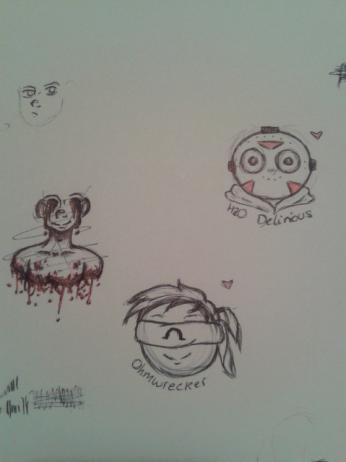 Random Doodle Page. by Captain-Iron-Pencil