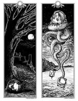 Lovecraft-inspired Bookmark by apeldille