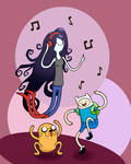 Adventure Time Dancing Colored