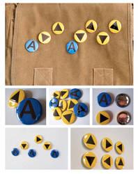 Zelda Ocarina Nintendo Notes Pinback Buttons by artshell