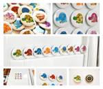 Rainbow of Turtles - Magnet Set