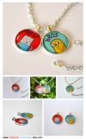 Adventure Time Pendant Necklace - Best Bros by artshell