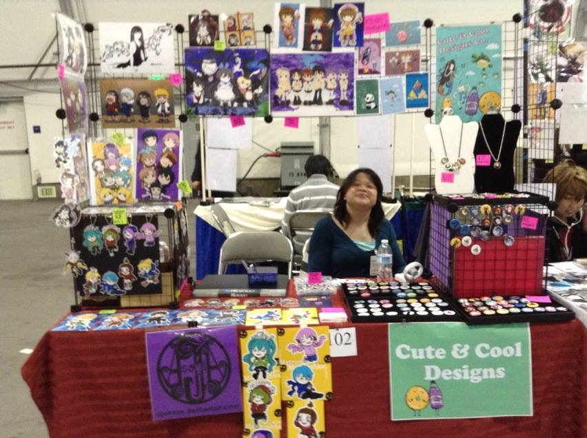 Anime Expo Stands : Fanime artist alley by artshell on deviantart