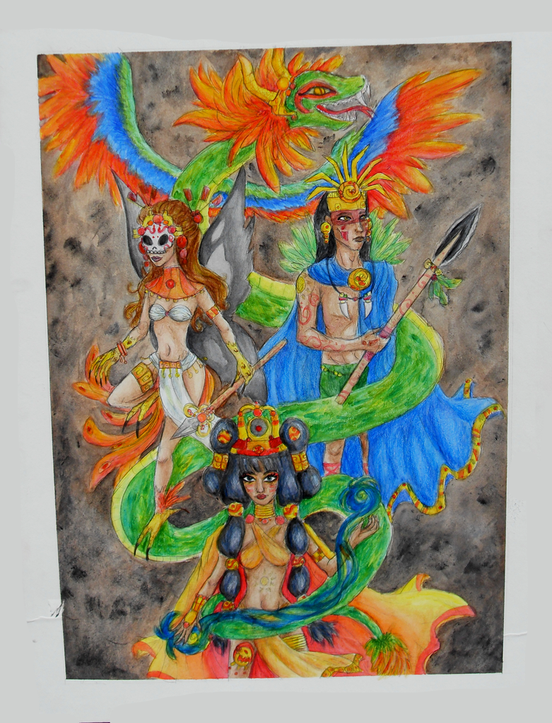 Mayan Gods by Leah-Sama