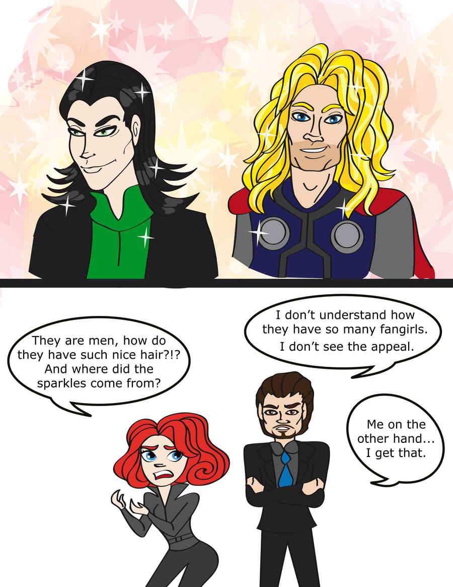 Avengers: Nice Hair by Leah-Sama