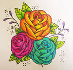 Freehand Roses