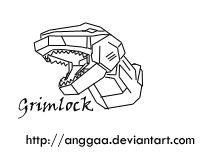 Grimlock's Head Sketch by anggaa