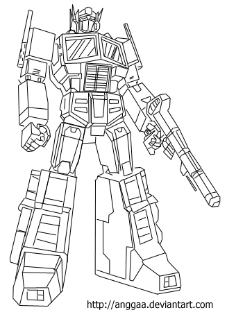 G1 Optimus Prime Coloring Pages Sketch Templates on transformer box