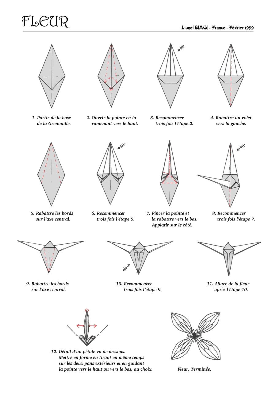 Origami Flower Diagram by Artham on DeviantArt on