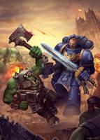 Games Workshop Warhammer 40k Art Test by Folko-S