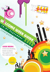 welcome week booklet cover by Druantia-design