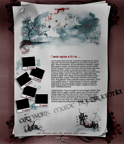 band web site-  home page by Druantia-design